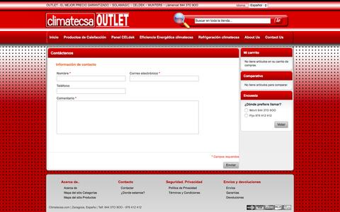 Screenshot of Contact Page climatecsa.com - Magento Commerce - captured Dec. 6, 2015