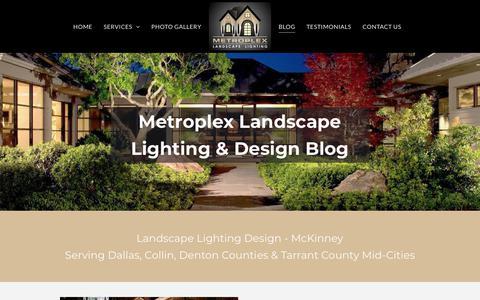 Screenshot of Press Page metroplexlandscapelighting.com - Outdoor Lighting Ideas Plano   Metroplex Landscape Lighting - captured Sept. 20, 2018