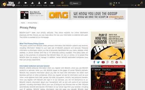 Screenshot of Privacy Page bigxgh.com - BiGx.Com.Gh - captured Sept. 12, 2014