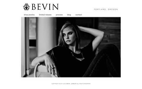 Screenshot of Home Page bevindesigns.com - BEVIN : Jewelry - captured Oct. 5, 2014