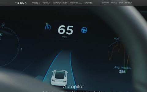Screenshot of Home Page teslamotors.com - Tesla Motors | Premium Electric Vehicles - captured Jan. 29, 2016