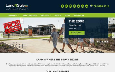 Screenshot of Home Page land4salewa.com.au - Land For Sale In Perth | Land4Sale - captured Sept. 26, 2018
