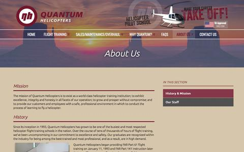 Screenshot of About Page quantumhelicopters.com - About Us | Quantum Helicopters - captured July 22, 2018