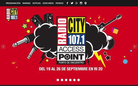 Screenshot of Home Page radiocityfm.com - Radio City FM 107.1 Jujuy - captured Sept. 19, 2015