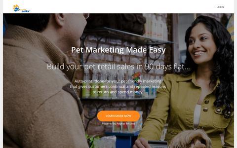 Screenshot of Home Page pawsitiveperks.com - Pawsitive Perks - captured May 15, 2017