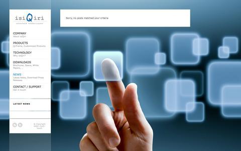 Screenshot of Press Page isiqiri-multi-touch.com - News   isiQiri multi-touch - captured Oct. 6, 2014