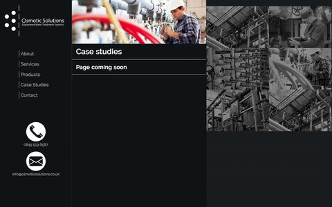 Screenshot of Case Studies Page osmoticsolutions.co.uk - Water treatment and process control | Osmotic Solutions - captured Sept. 30, 2014