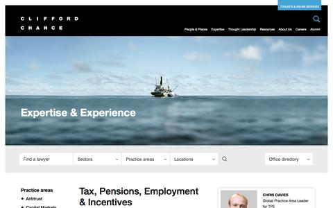 Clifford Chance | Tax, Pensions, Employment & Incentives