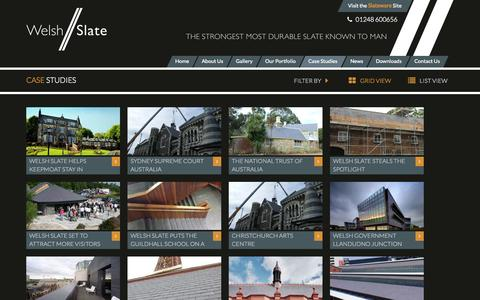 Screenshot of Case Studies Page welshslate.com - Case Studies | Welsh Slate - captured Sept. 26, 2014