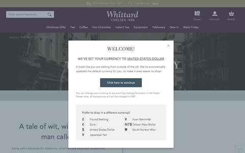Screenshot of About Page whittard.co.uk - About Whittard - How it all began! | Whittard of Chelsea - captured Nov. 28, 2016