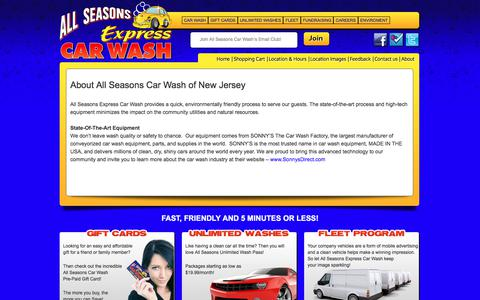 Screenshot of About Page allseasonscarwashnj.com - About All Seasons Car Wash of New Jersey - captured Oct. 8, 2017