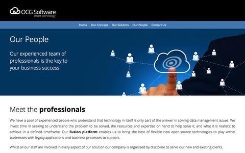 Screenshot of Team Page ocgsoftware.com - Welcome to OCG Software - captured Nov. 2, 2017