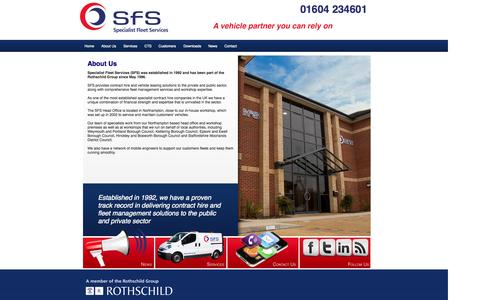 Screenshot of About Page sfs.co.uk - About Us | SFS Specialist Fleet Services, Municipal Vehicle Contract Hire - captured Oct. 6, 2014