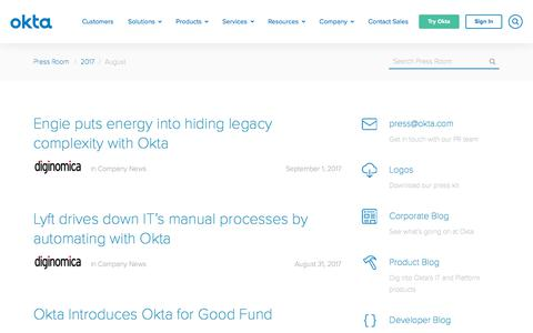 Okta, Inc 's Web Marketing Designs | Crayon