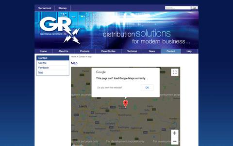Screenshot of Maps & Directions Page gr-electrical.co.uk - GR Electrical : Map - captured Sept. 24, 2018