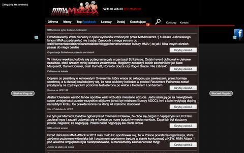 Screenshot of Blog mmamiszcz.pl - King Brus Li MMA Miszcz - Sztuk Walki bez napinki! - captured Oct. 30, 2014