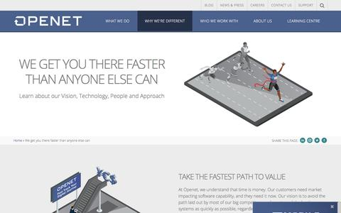 We get you there faster than anyone else can | Openet