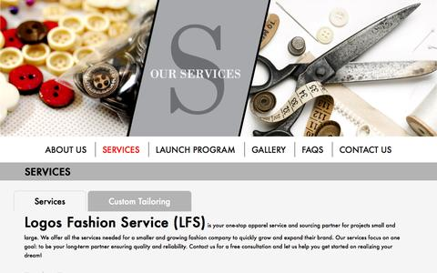 Screenshot of Services Page logosfashionservice.com - Services - Best Low Volume Apparel Manufacturer In Vietnam For Start-Up Fashion Designers | Logos Fashion Service - captured Sept. 30, 2014