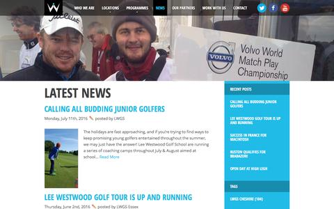 Screenshot of Press Page leewestwoodgolfschool.com - Lee Westwood Golf School Latest News, Golf News from all the Lee Westwood Golf Schools - captured July 12, 2016