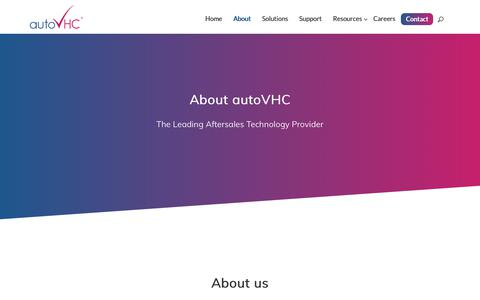 Screenshot of About Page autovhc.com - About AutoVHC | AutoVHC - captured Oct. 5, 2018