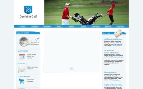 Screenshot of Menu Page gumbolegolf.fi - Gumbšle Golf - captured Dec. 15, 2015