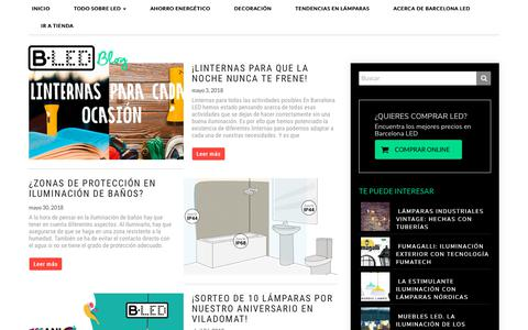 Screenshot of Blog barcelonaled.com - Todo sobre Iluminación y decoración LED - Blog de Iluminación - captured Aug. 1, 2018