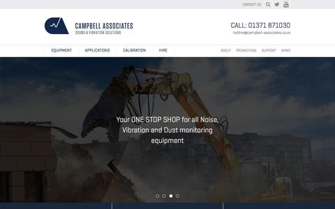 Screenshot of Home Page campbell-associates.co.uk - Campbell Associates - captured Aug. 29, 2018
