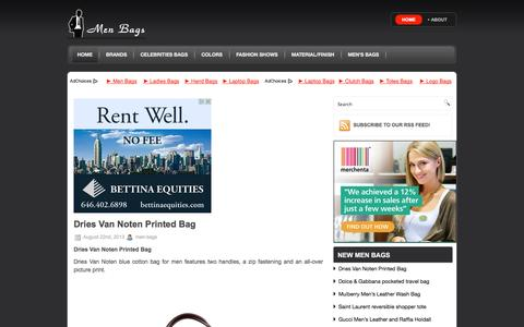 Screenshot of Home Page men-bags.com - Men's bags - captured Sept. 25, 2014