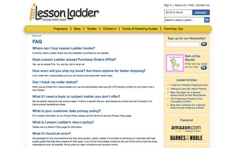 Screenshot of FAQ Page lessonladder.com - Help - Customer Service by LessonLadder.com | We're Here to Help You! - captured Sept. 29, 2014