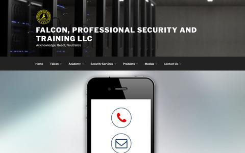 Screenshot of Contact Page falcon-security.us - Contact Us | Falcon, Professional Security and Training LLC - captured Nov. 14, 2018