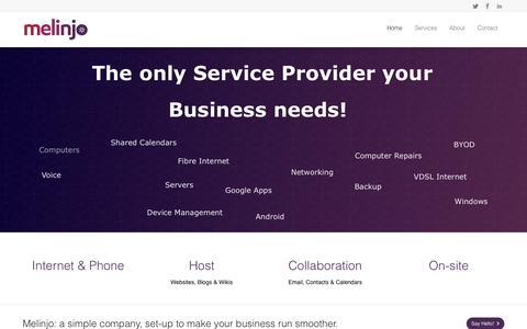 Screenshot of Home Page Terms Page melinjo.co.nz - Melinjo - captured Sept. 30, 2014