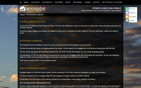 Screenshot of About Page moonshineagency.com.au - ABOUT MOONSHINE AGENCY - Moonshine Agency - captured Aug. 2, 2015