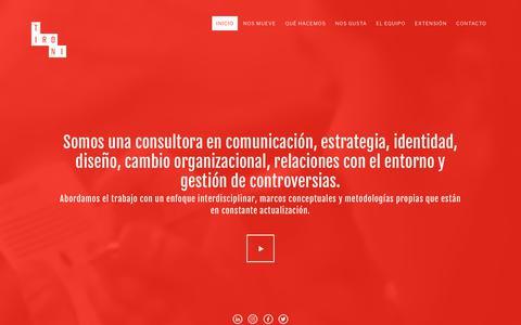 Screenshot of Home Page tironi.cl - TIRONI | Consultora en comunicación, estrategia y gestión de controversias - captured Oct. 24, 2018