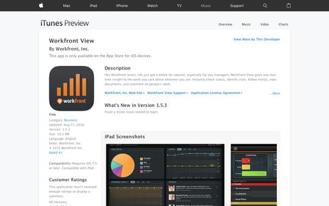 Workfront View on the App Store