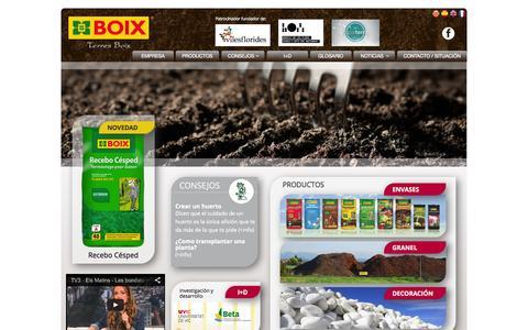 Screenshot of Home Page terres-boix.com - terres-boix.com - captured Sept. 11, 2015