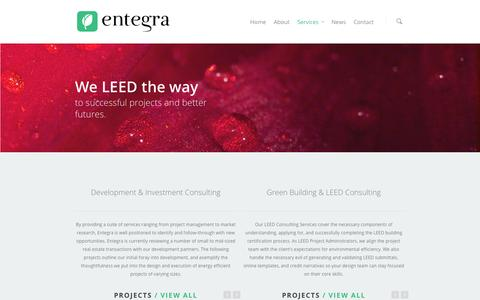 Screenshot of Services Page entegra-re.com - Services | Entegra Development & Investment - captured Oct. 3, 2014