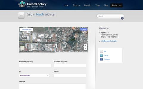 Screenshot of Contact Page dream-factory.tk - Contact us | Dream Factory - captured Feb. 9, 2016