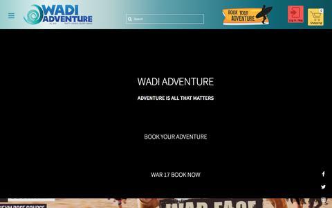 Screenshot of Home Page wadiadventure.ae - Wadi Adventure - captured Sept. 21, 2018
