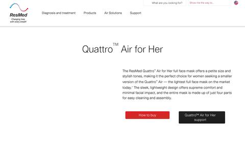 Quattro Air for Her | ResMed