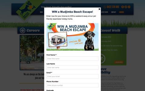 Screenshot of Jobs Page spotdogwalk.com.au - Career   Spot The Dog Walker - captured Dec. 3, 2016