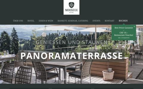 Screenshot of Home Page moosegg.ch - Hotel Moosegg - Herzlich Willkommen - captured May 12, 2018