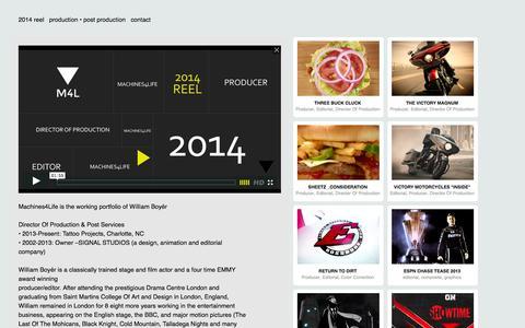 Screenshot of Home Page sgnl.tv - M4L - captured Oct. 3, 2014