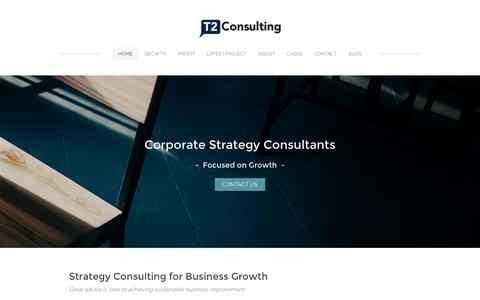 Screenshot of Home Page t2consulting.com.au - T2 Consulting - Strategy consulting and business improvement - captured Nov. 28, 2016