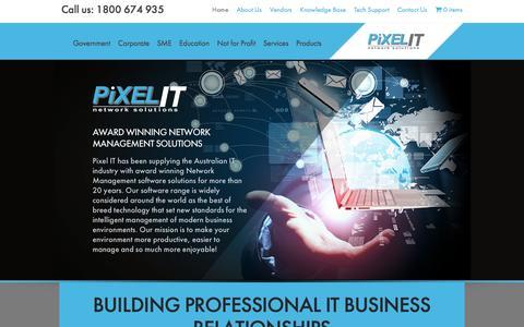 Screenshot of Home Page pixel.com.au - Pixel IT Network Solutions   Award Winning Network Management Solutions - captured Jan. 28, 2016