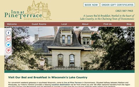 Screenshot of Contact Page Maps & Directions Page innatpineterrace.com - Bed and Breakfast in Wisconsin for Getaways near Chicago - captured July 1, 2018