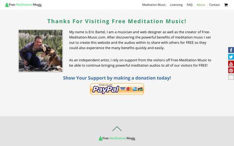 Screenshot of About Page free-meditation-music.com - About | Free Meditation Music - captured Oct. 31, 2017
