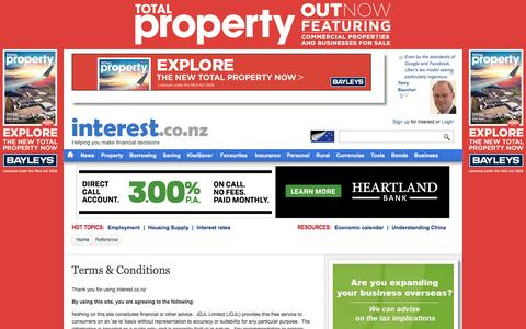Screenshot of Terms Page interest.co.nz - Terms & Conditions | interest.co.nz - captured Aug. 24, 2016