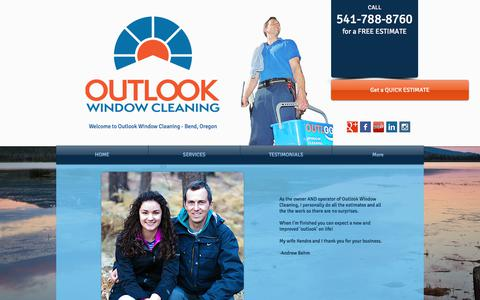 Screenshot of About Page outlookwindowcleaning.com - Outlook Window Cleaning | Bend Oregon | 541-788-8760 - captured June 18, 2017