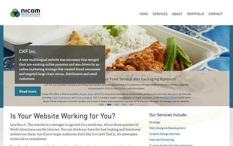 Screenshot of Home Page nicominteractive.com - Halifax Web Design, Web Development | Nicom Interactive | Halifax, Nova Scotia - captured Jan. 11, 2016