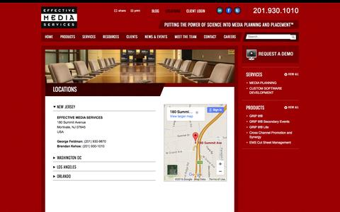 Screenshot of Locations Page effectivemediaservices.com - Locations | Effective Media Services - captured Jan. 26, 2016
